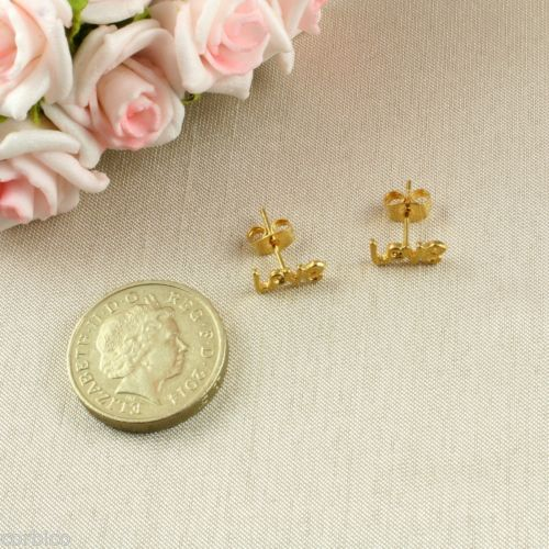 E1 Small 18K Gold Plated Love Stud Earrings