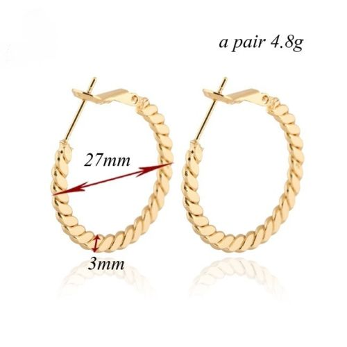 E17 Gold Plated 2.7 cm Creole Hoop Earrings in Gift Pouch