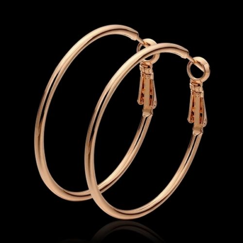 Classic 4 cm Plated Creole Hoop Earrings in Gift Pouch