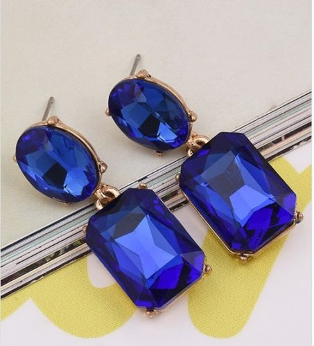 E19 Juliette Vintage Style Crystal Dangle Statement Earrings