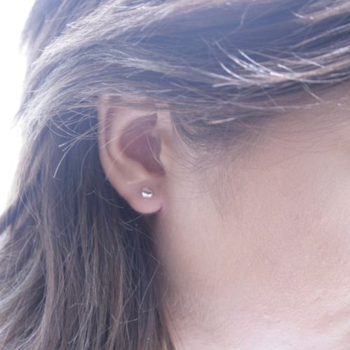 925 Sterling Silver Tiny Heart Stud Earrings