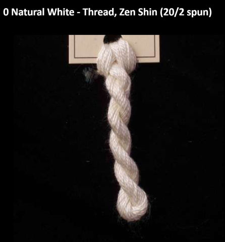 TREENWAY SILKS - Zen Shin (20/2) Silk Thread - # 0 Natural White