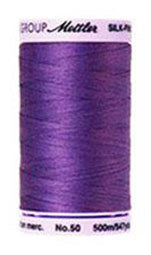 Mettler Cotton Sewing Thread - 50wt - 547 yd/ 500M - 0030 Iris Blue (Purple)