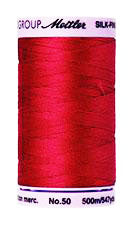 Mettler Cotton Sewing Thread - 50wt - 547 yd/ 500M - 0504 Country Red