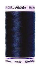 Mettler Cotton Sewing Thread - 50wt - 547 yd/ 500M - 0827 Dark Navy/ Indigo