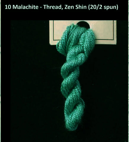 TREENWAY SILKS - Zen Shin (20/2) Silk Thread - # 0010 Malachite
