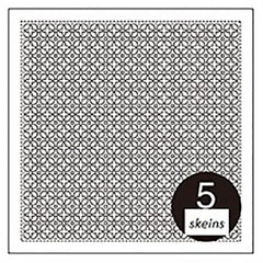 Sashiko Pre-printed Sampler - Hitome-Zashi Sashiko - # 1065 - Morning Glory - White
