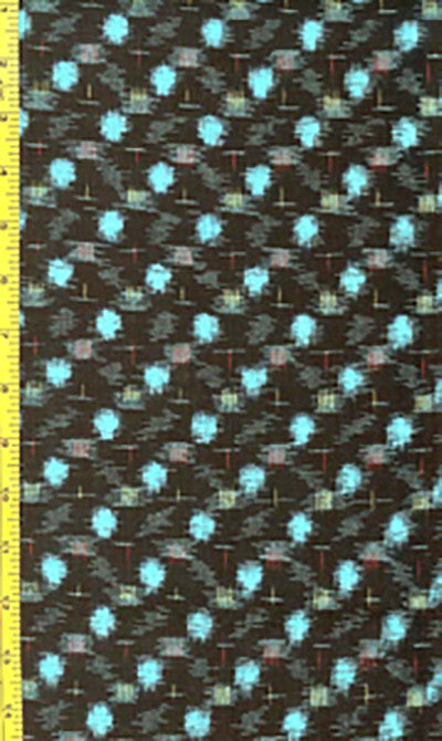 Japanese Kasuri - 13438 - Red & Yellow Diagonal Patches