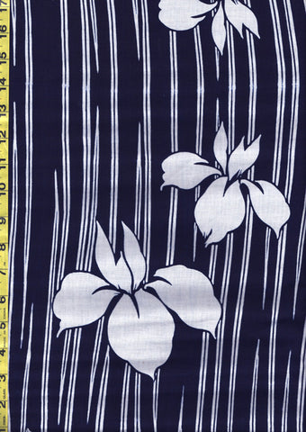 Yukata Fabric - 143 - Floating Iris