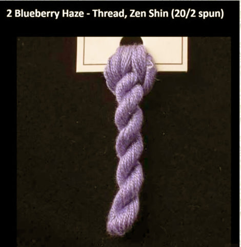 TREENWAY SILKS - Zen Shin (20/2) Silk Thread - # 0002 Blueberry Haze