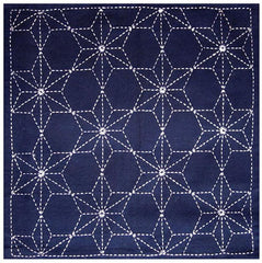 Sashiko Pre-printed Sampler - # 0010 Tobi Asa-no-ha - White