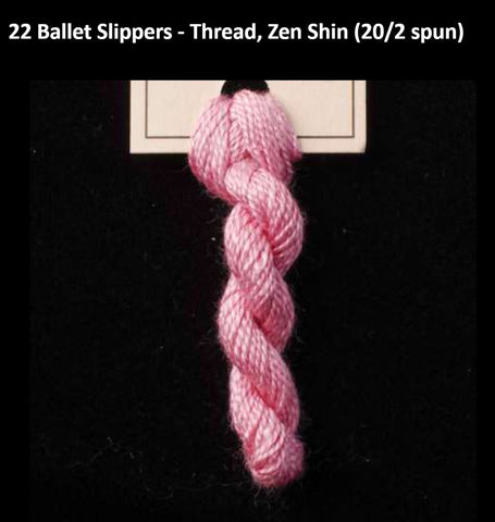 TREENWAY SILKS - Zen Shin (20/2) Silk Thread - # 0022 Ballet Slippers