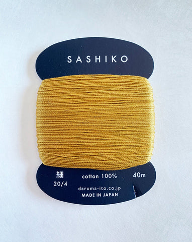 Sashiko Thread - Daruma - Thin Weight - 40m - # 220 Golden Bamboo