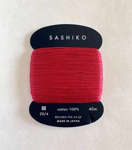Sashiko Thread - Daruma - Thin Weight - 40m - # 221 Temple Red