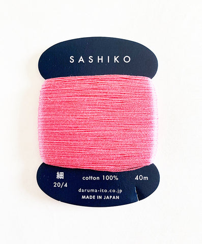 Sashiko Thread - Daruma - Thin Weight - 40m - # 222 Cherry Blossom Pink