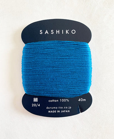 Sashiko Thread - Daruma - Thin Weight - 40m - # 224 Bright Blue