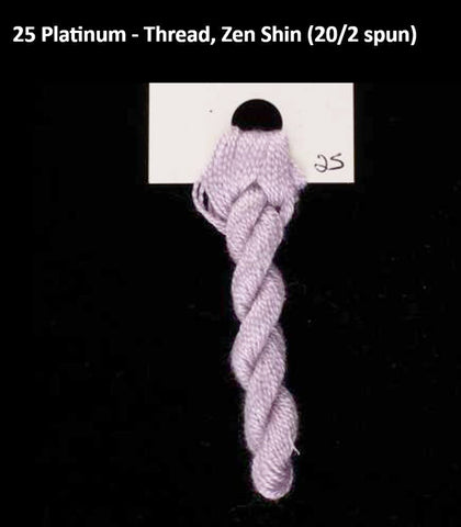 TREENWAY SILKS - Zen Shin (20/2) Silk Thread - # 0025 Platinum