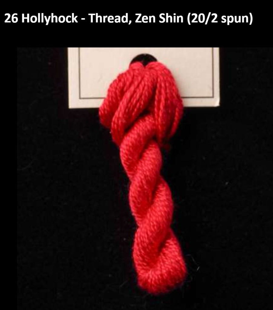 TREENWAY SILKS - Zen Shin (20/2) Silk Thread - # 0026 Hollyhock