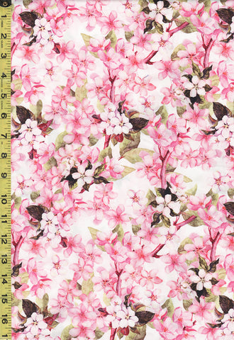 *Floral Fabric - Pretty in Pink - Cherry Blossom Branches - 2PIP-1 - Pink