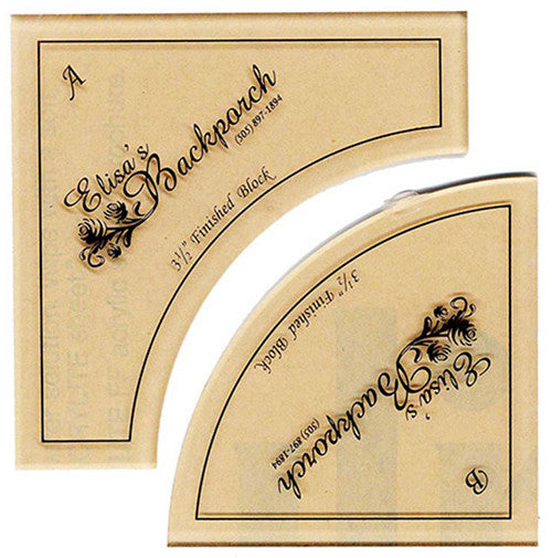 "Rulers & Templates - Elisa's Backporch Designs - 3 1/2"" Crazy Curves Template & Pattern"
