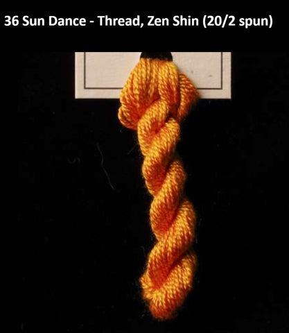 TREENWAY SILKS - Zen Shin (20/2) Silk Thread - # 0036 Sun Dance