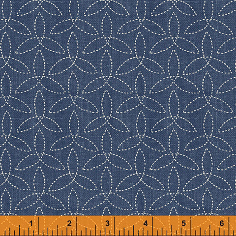 *Asian - Sashiko-Like Pinwheels - 51813-3 - Denim