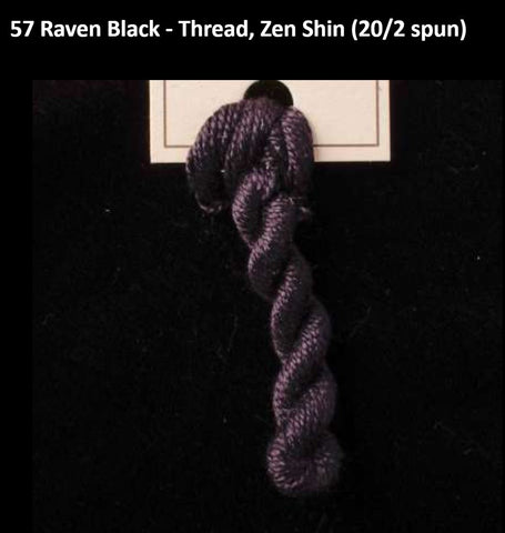 TREENWAY SILKS - Zen Shin (20/2) Silk Thread - # 0057 Raven Black