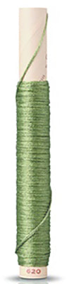 Silk Embroidery Floss - # 620 - Medium Sage