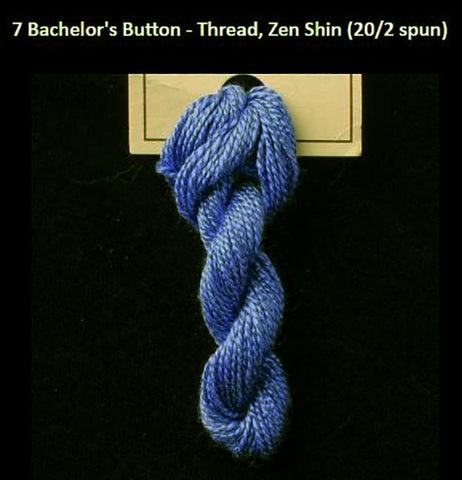 TREENWAY SILKS - Zen Shin (20/2) Silk Thread - # 0007 Bachelor's Button (Blue)