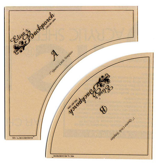 "Rulers & Templates - Elisa's Backporch Designs - 7"" Crazy Curves Template & Circle Dance Pattern"