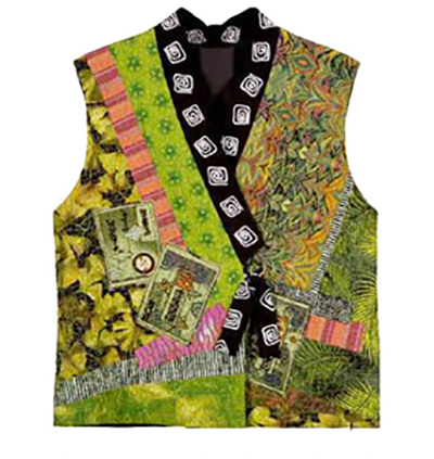 Wearables - Christine Barnes - Kimono Collage Vest