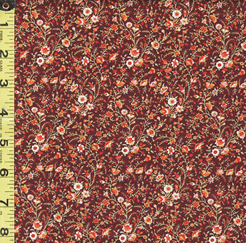 *Floral Fabric - In the Beginning - Garden Delights III - Miniature Trailing Floral Branches - 8GSG-1 - Autumn