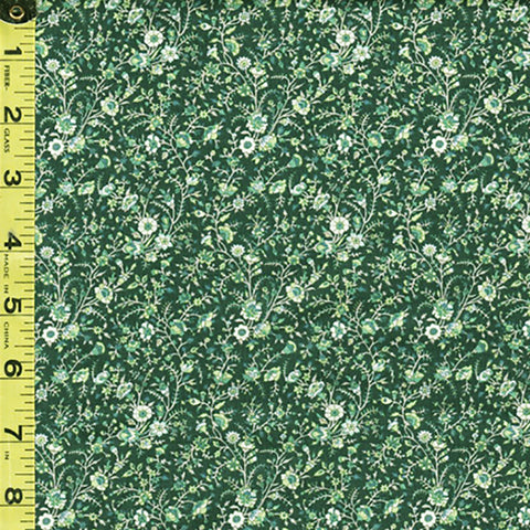 *Floral Fabric - In the Beginning - Garden Delights III - Miniature Trailing Floral Branches - 8GSG-2 - Soft Sage