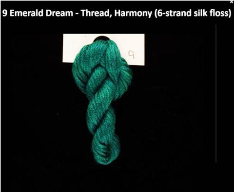 TREENWAY SILKS - Harmony Silk Floss - # 0009 Emerald Dream