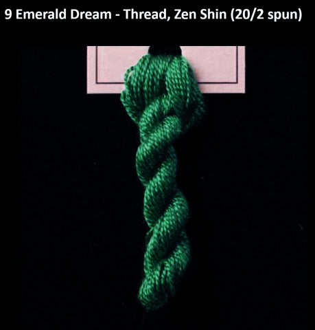 TREENWAY SILKS - Zen Shin (20/2) Silk Thread - # 0009 Emerald Dream