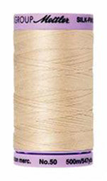Mettler Cotton Sewing Thread - 50wt - 547 yd/ 500M - 1000 Eggshell