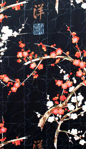 Asian - Alexander Henry - Cherry Blossom Branches - Black