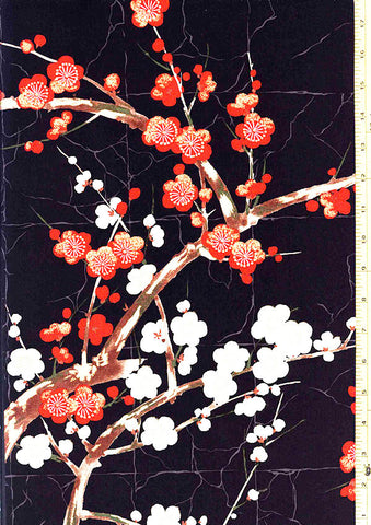 Asian - *Alexander Henry - Cherry Blossom Branches - Black