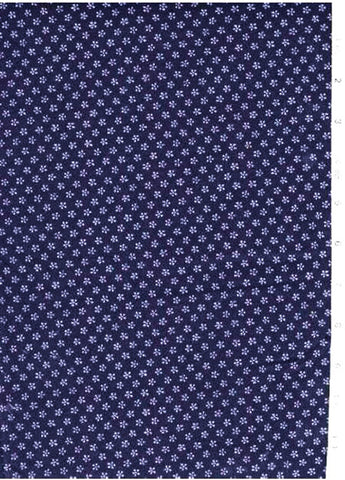 Japanese Indigo - AP1310-16 - Tiny Five Petal Flower - Dark Navy/ Indigo
