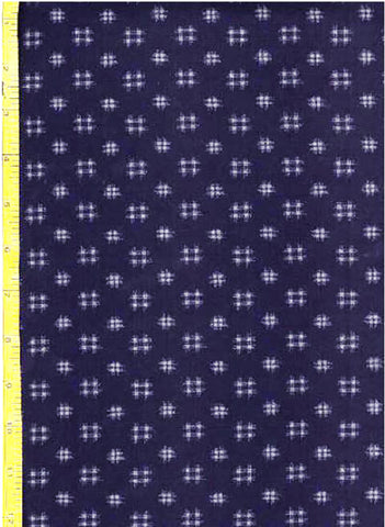 Japanese Indigo - AP1310-12 - Kasuri-Like Hatches - Dark Navy/ Indigo