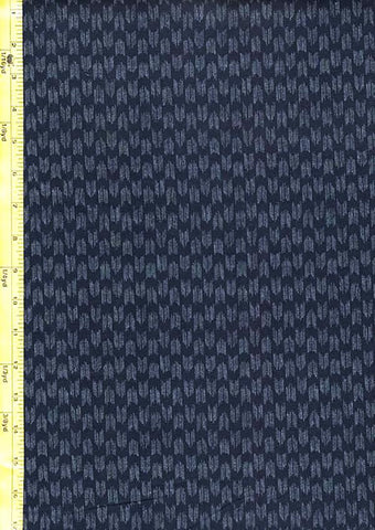 *Japanese  Indigo - AP1310-38 - Small Kasuri-Like Arrows/ Chevrons