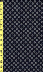 Japanese Indigo - AP1310-53 - Small Chrysanthemums - Dark Navy/ Indigo