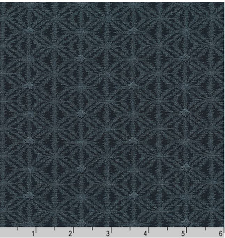 *Japanese - Sevenberry Kasuri Collection - Asanoha-like Motif - SB-88229D3-3 - Navy