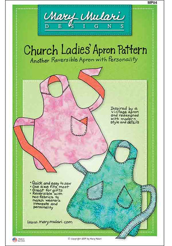Apron Pattern - Mary Mulari - Church Ladies Apron