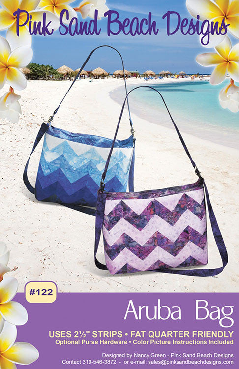 Bag Pattern - Pink Sand Beach Designs - Aruba Bag