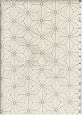 Sashiko Fabric - Pre-printed Sashiko Fabric - Asanoha - Natural