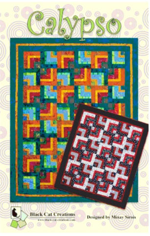 Quilt Pattern - Black Cat Creations - Calypso - HALF PRICE SALE