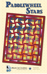 Quilt Pattern - Black Cat Creations - Paddlewheel Stars