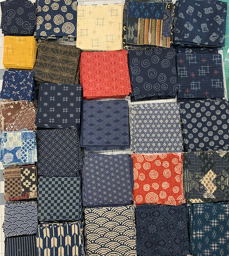 *Japanese Traditional - Japanese Cotton Boro Patch Assortment