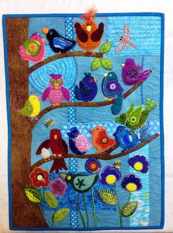 Applique Pattern - Back Porch Designs - Out on a Limb